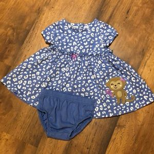 Blue Monkey Dress with Bloomers